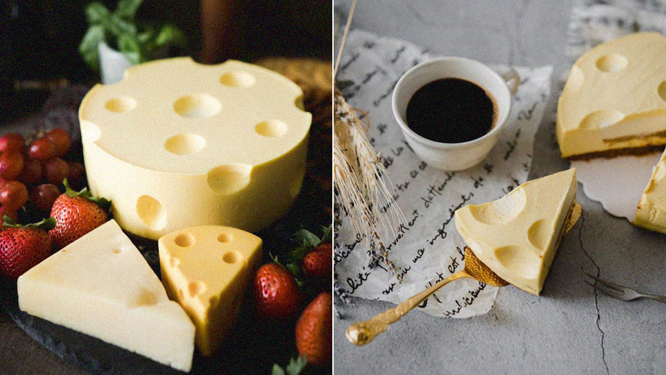 This Gorgeous Cheesecake Looks Exactly Like Real Swiss Cheese