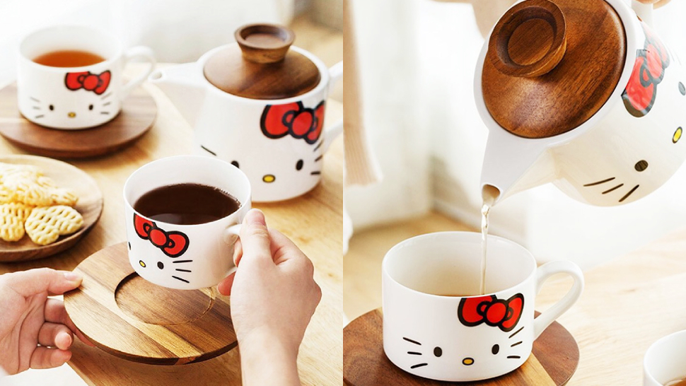This Adorable Tea Set Is Purr-fect For Hello Kitty Fans