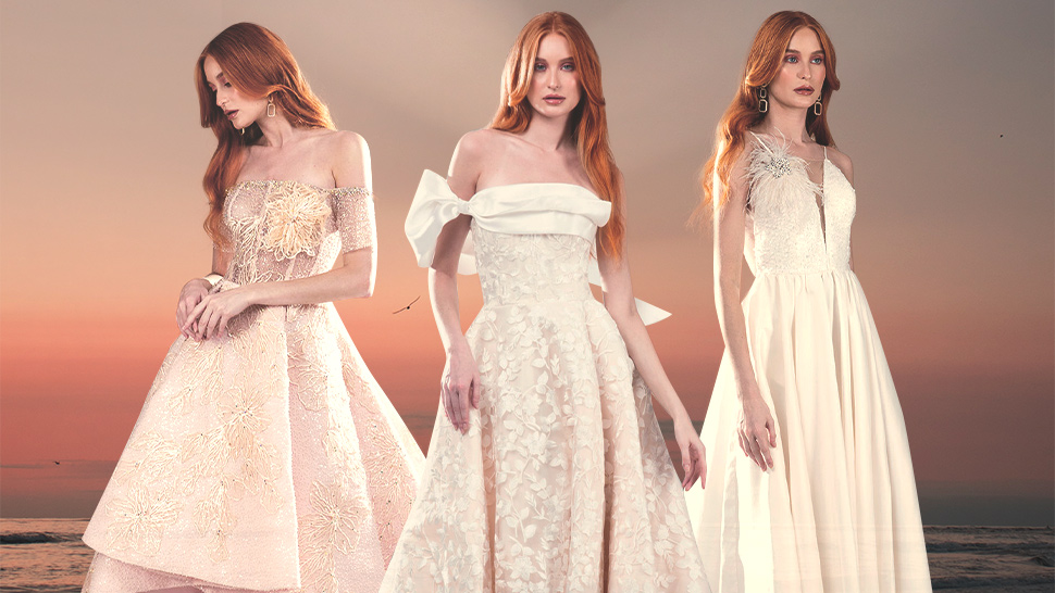 Rosenthal Tee's Latest RTW Collection Features Subtly Colored Gowns Inspired by Sunsets