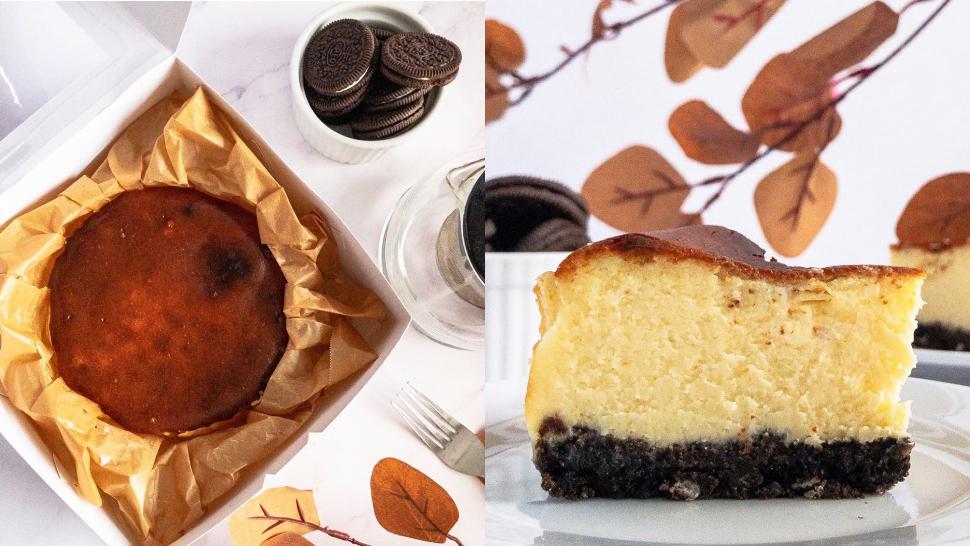 This Burnt Basque Cheesecake Has A Crunchy Oreo Crust