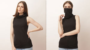 This Stylish Minimalist Top Was Designed With A Built-in Mask