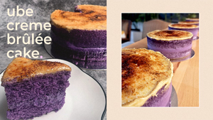This Ube + Creme Brulee Cake Is What You Deserve After A Stressful Day