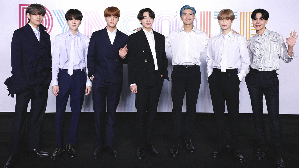 "All of BTS' Stylish Louis Vuitton Outfits for Their ""Dynamite"" Press Con"
