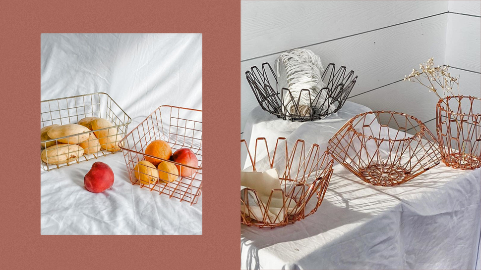 These Stylish And Aesthetic Wire Baskets Double As Organizers And Decor