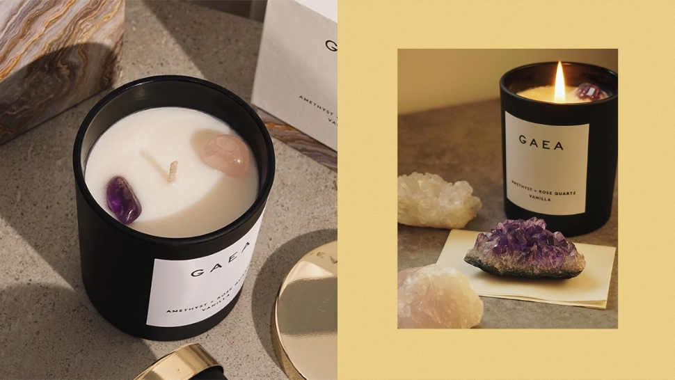 Need More Good Vibrations? Add This Crystal-Infused Scented Candle to Your Space