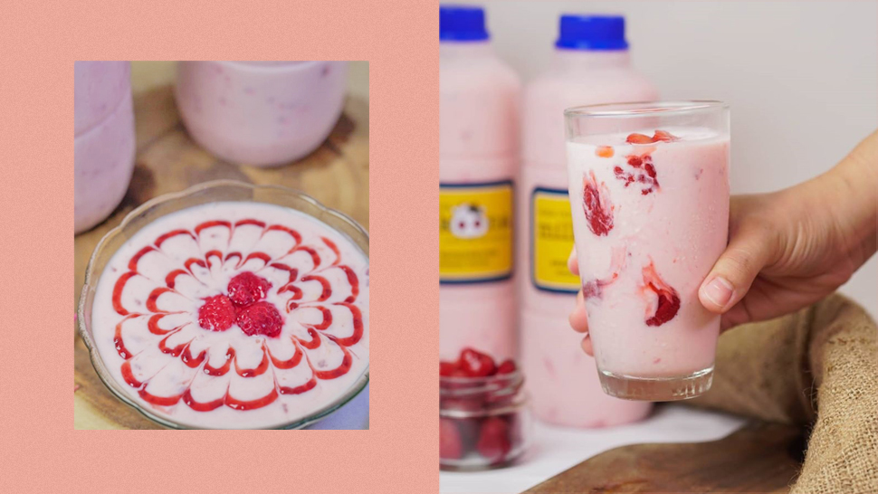 Korean Strawberry Milk Meets Yogurt In This Delicious Creamy Drink