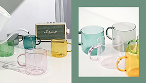 We're Obsessed With These Minimalist Tinted Glass Cups
