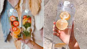 This Clear Water Bottle Is A Chic, Eco-friendly Way To Stay Hydrated