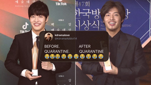 Kang Ha Neul Looks Almost Unrecognizable As He Wins Another Best Actor Award