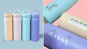 You Can Personalize These Pastel Tumblers With Decals For Free