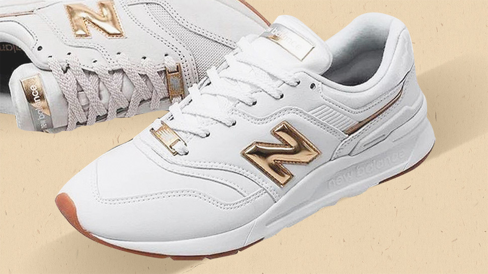 These White Sneakers With Gold Accents Are Oh So Elegant