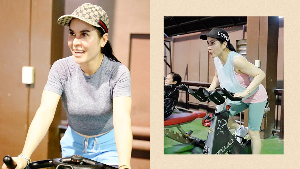 In Case You Haven't Noticed, Jinkee Pacquiao Has Been Working Out In Gucci Baseball Caps