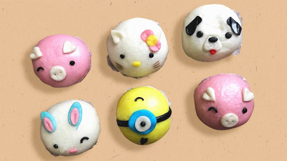 Here's Where You Can Get These Cute, Cartoon-Themed Steamed Buns