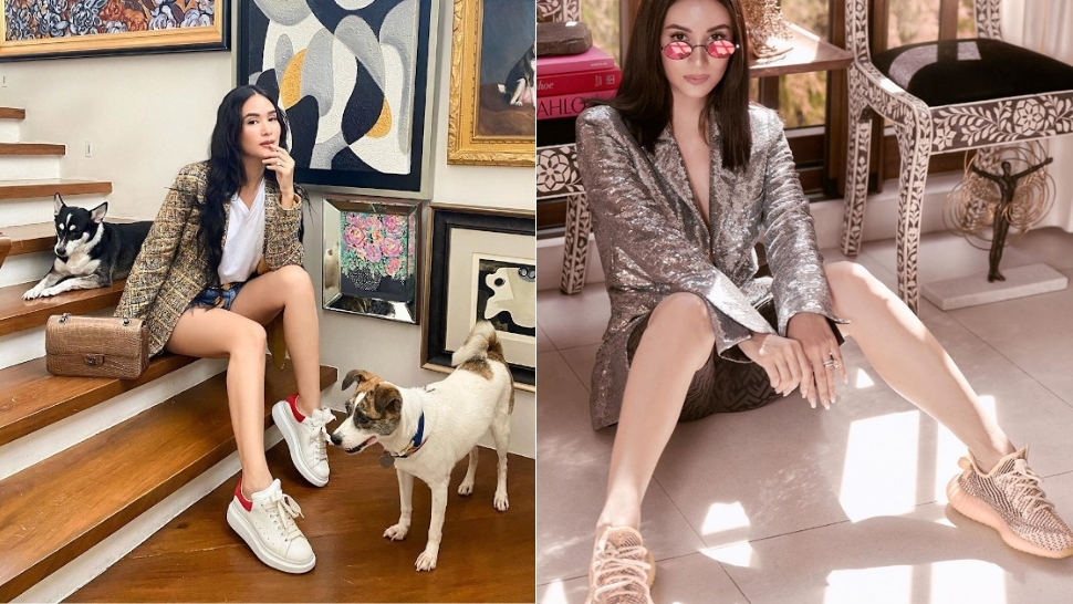 10 Stylish Ways To Wear Sneakers Like Heart Evangelista
