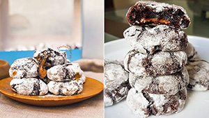 These Extra Fudgy Crinkles Are Stuffed With Gooey Caramel Filling