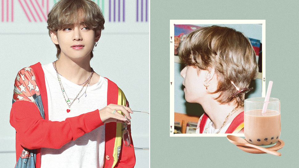 BTS' V Is Proof That Milk Tea Hair Looks Great on Boys Too