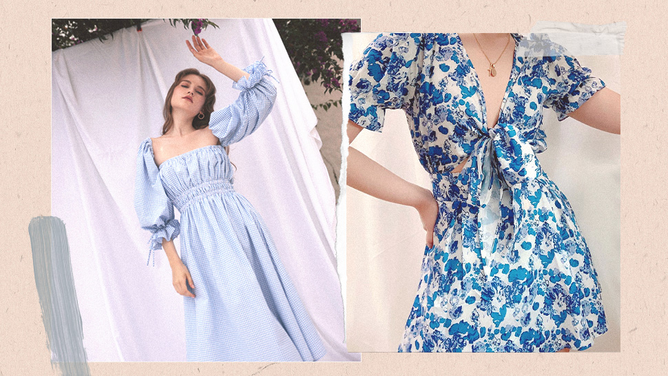 10 Pretty Blue Dresses with Puff Sleeves to Add to Your Closet Right Now