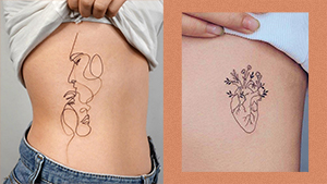 10 Low-key Minimalist Rib Tattoo Ideas That'll Make You Want To Get Inked