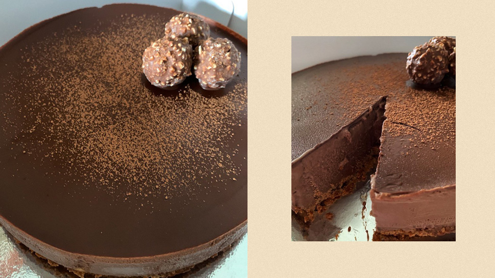 This Ferrero-topped Ice Cream Cake Is The Chocolatey Treat You Need Today