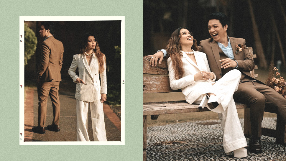 KZ Tandingan Got Married in a White Pantsuit and She Looked Beautiful