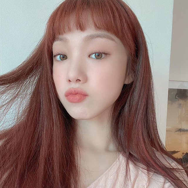 lee sung kyung red hair