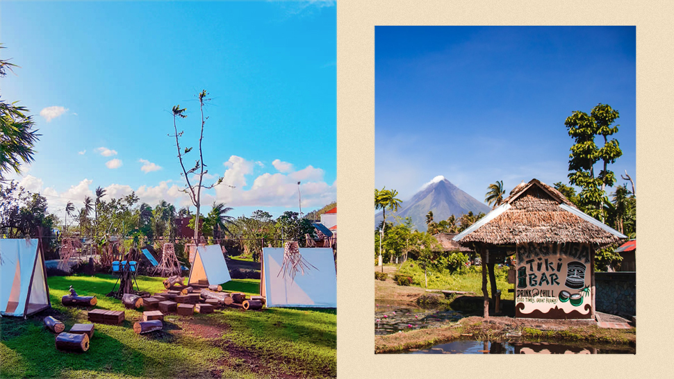 This Rustic Glamping Spot Let's You Wake Up To A Beautiful View Of Mayon