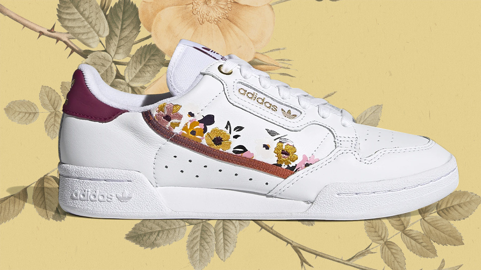 These Adidas White Sneakers Just Got A Blooming Makeover With Floral Accents
