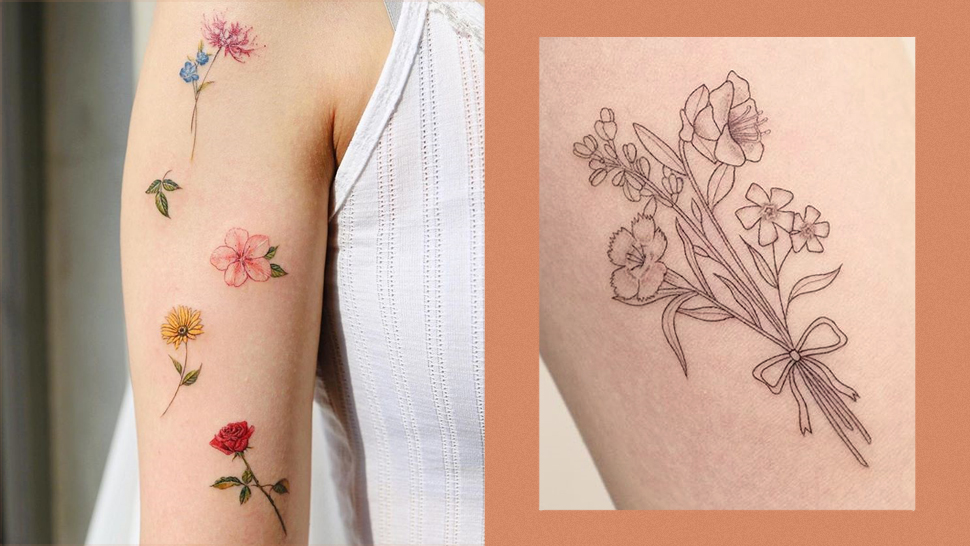 10 Stylish Tattoos with Flowers That Will Inspire You to Get Inked
