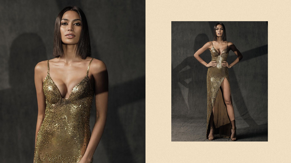 "Miss Davao Alaiza Malinao's ""liquid Gold"" Evening Gown Took Over 500 Hours To Make"