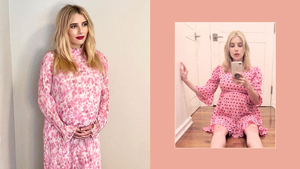 9 Stylish Pregnancy Outfits We've Spotted On Emma Roberts
