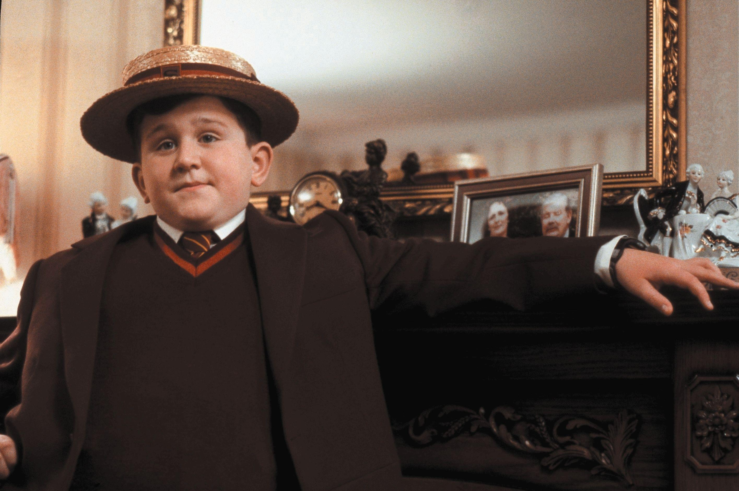 harry melling as dudley dursley in harry potter
