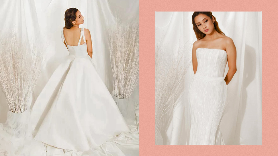 Here's Where You Can Shop Chic Minimalist Bridal Gowns That Start At P15,000