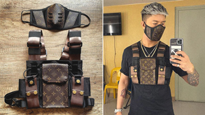 Singer Kris Lawrence Is Reworking Designer Items Into Face Masks And Bags