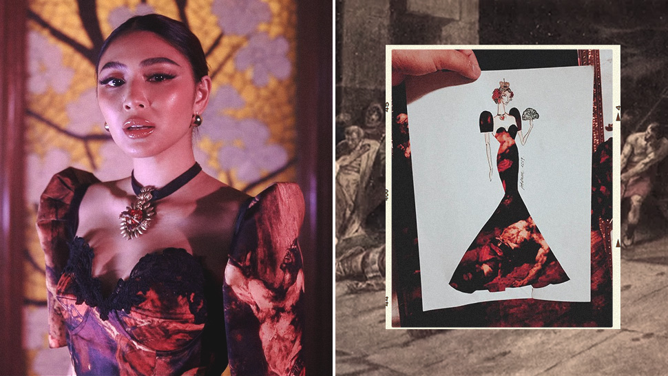 """Nadine Lustre's Terno for """"Wildest Dreams"""" Is Actually Inspired by Juan Luna's """"Spoliarium"""""""