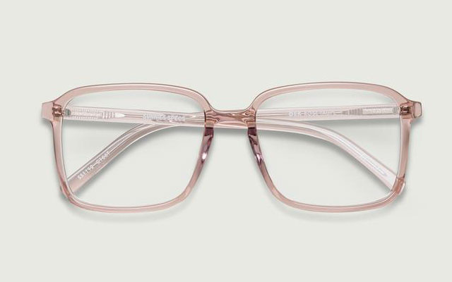 sunnies specs dex eyeglass frames in rose taupe