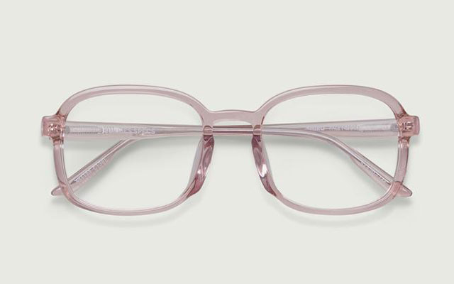 sunnies specs shiro eyeglass frames in pale nude