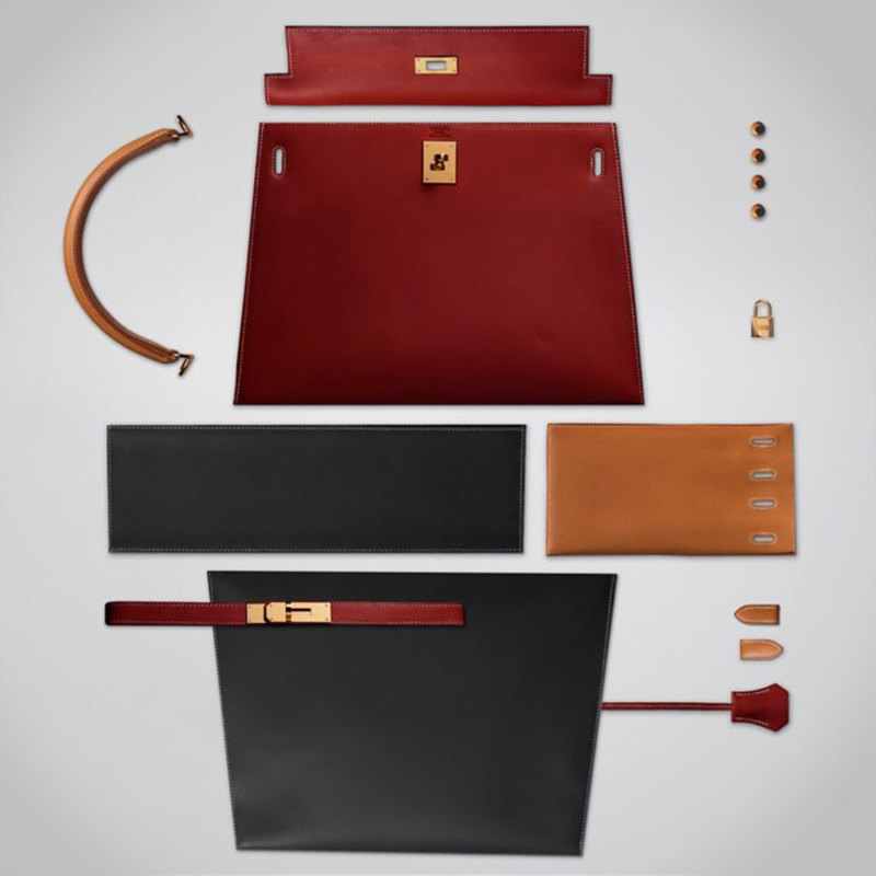 Hermes Kelly bag parts