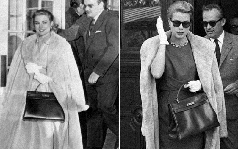 Grace Kelly spotted wearing Hermes Kelly