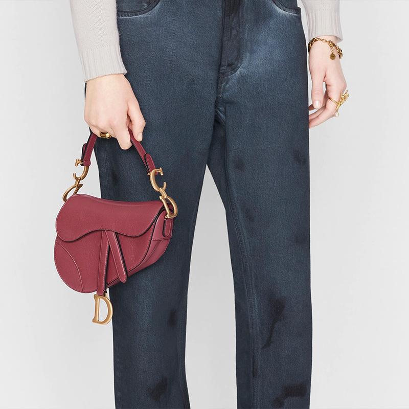 Dior Mini saddle bag when worn