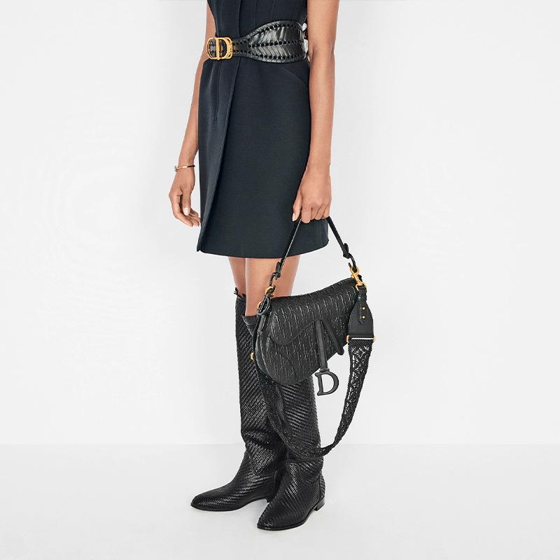 Dior saddle bag when worn