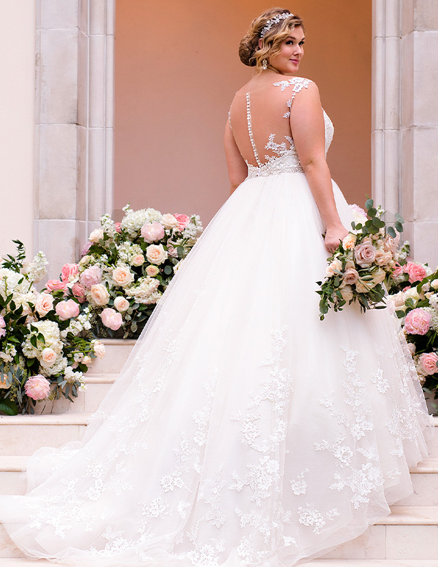 wedding gown designs for plus size brides