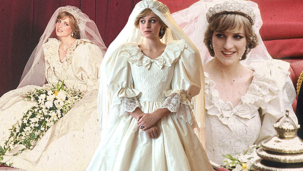 "It Took 600 Hours To Recreate Princess Diana's Fairytale Wedding Dress In ""the Crown"""
