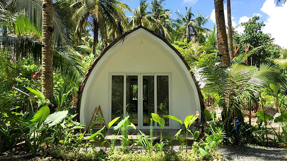 This Tiny House in Siargao Is a Hidden Tropical Getaway That's Shaped Like a Coconut