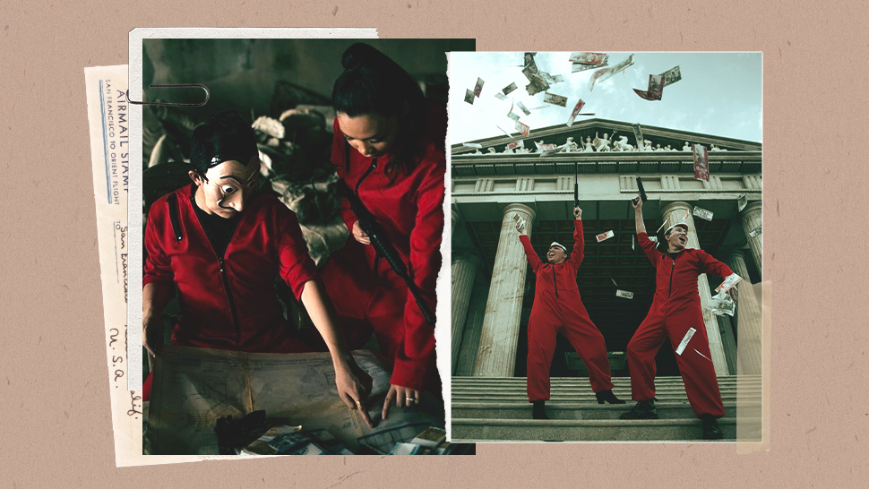 "This Pinoy Couple Had a ""Money Heist"" Themed Prenup Shoot and the Photos Are So Cool"