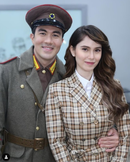 luis manzano and jessy mendiola dressed as hyun bin and son ye jin from crash landing on you