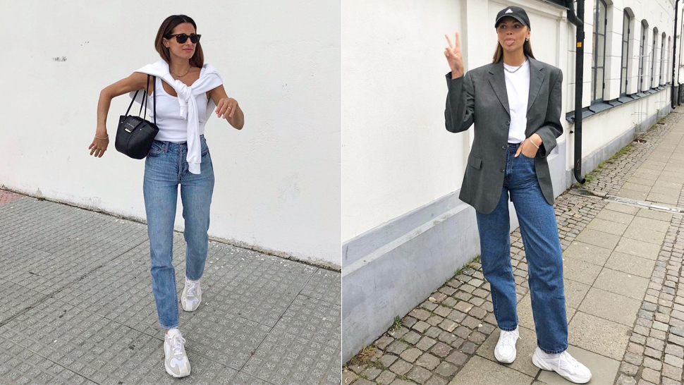 10 White Sneakers and Jeans Outfits That Always Look Cool