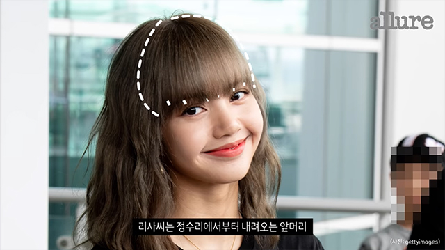 blackpink lisa bangs