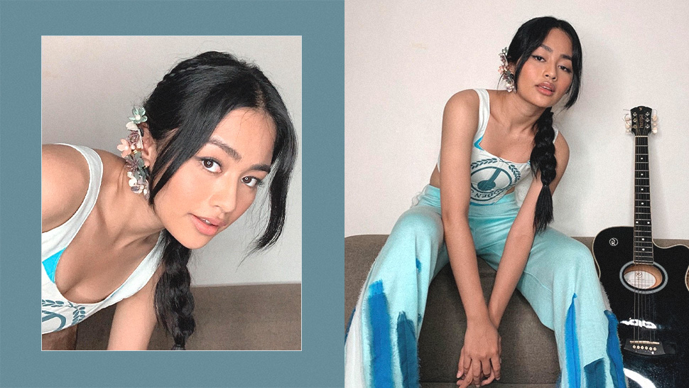 We're Obsessed with the Floral Ear Cuff Vivoree Esclito Wore to the Preview 25 House Party