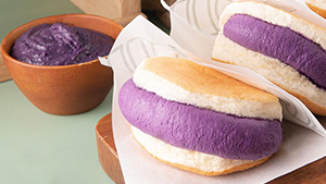 This Pancake Sandwich Has Ube Cream Filling That Melts In Your Mouth