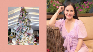 You Have To See Jinkee Pacquiao's Giant Pastel Christmas Tree
